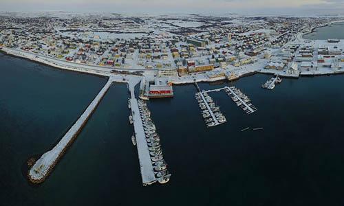 Thị trấnVadsø nằm ở cực bắc Na Uygần biên giới với Nga. Ảnh: Finnmark.