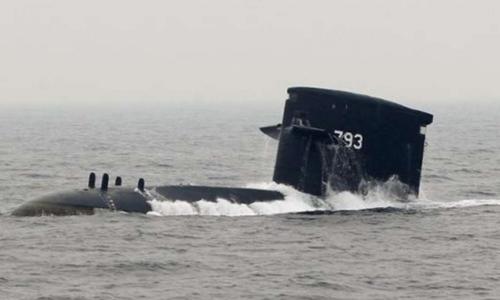 Một tàu ngầm của Đài Loan trong bức ảnh chụp năm 2013. Ảnh:Reuters.