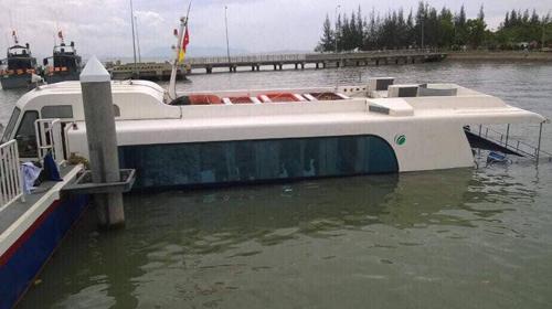 Tàu cao tốc gặp nạn ở Cần Giờ