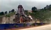 Gió giật sập tòa tháp 23 tầng đang xây ở Trung Quốc