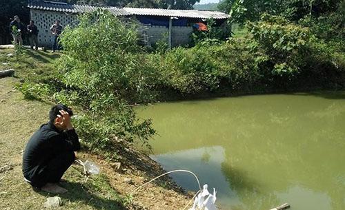 Ao nước nơi ba đứa trẻ gặp nạn. Ảnh: Lam Sơn.