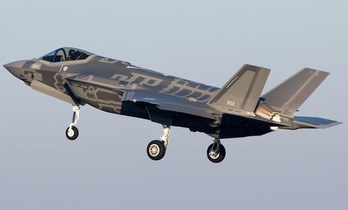 Tiêm kích F-35I cất cánh trong đợt diễn tập năm 2017. Ảnh: IAF.