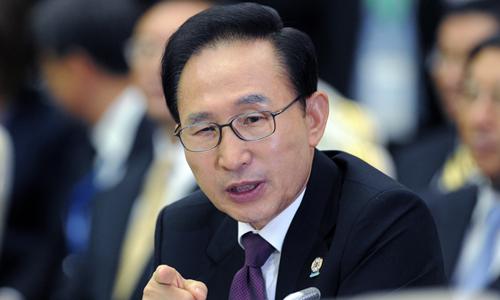 Cựu tổng thống Lee Myung-bak. Ảnh: AFP.