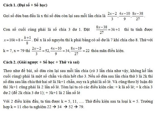 Đáp án bài toán về những trái dừa của ba chàng thủy thủ