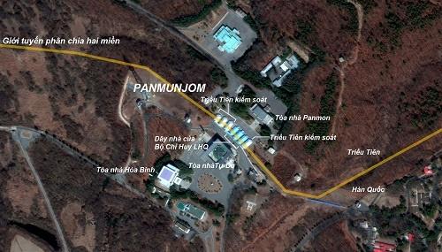Làng Panmunjom nhìn từ trên cao. Ảnh: New York Times.