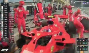 Tai nạn khiến thợ máy của Ferrari gãy chân trong pit-stop