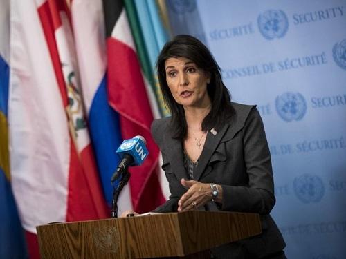 Đại sứ Mỹ tại Liên Hợp Quốc Nikki Haley. Ảnh: ABC.