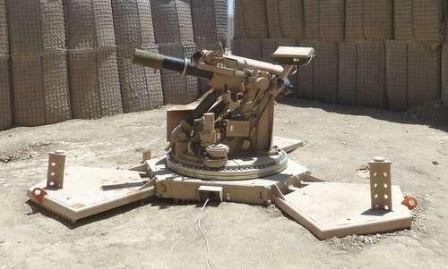 Hệ thống cối AMPS được Mỹ triển khai tại Syria. Ảnh: Drive.