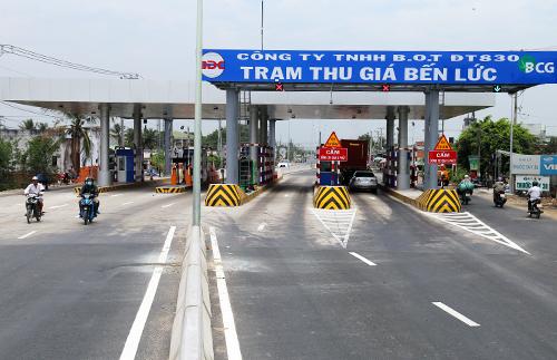 Dự án giao thông BOT đầu tiên của tỉnh Long An sẽ thu phí thử nghiệm từ ngày 15/4. Ảnh: Châu Đức