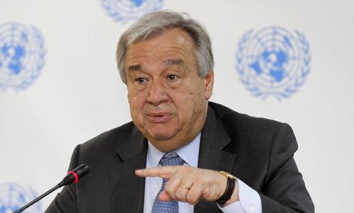 Tổng thư ký Liên Hợp Quốc Antonio Guterres. Ảnh: AP.