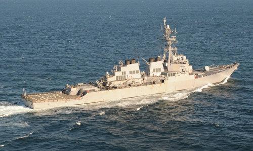 USS Donald Cook hoạt động gần Địa Trung Hải hồi năm 2013. Ảnh: US Navy.