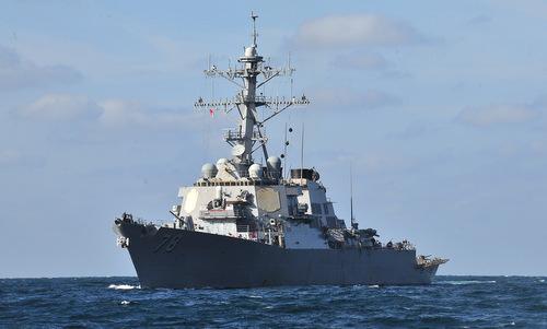 USS Porter tuần tra Đại Tây Dương hồi năm 2012. Ảnh: US Navy.