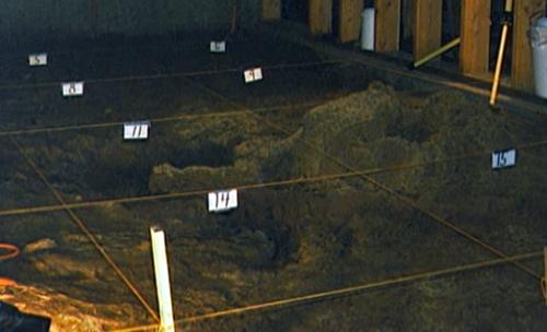 Cảnh sát đào hầm tìm thi thể.