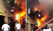 Nhiều bé gái nhảy từ ban công, thoát khỏi đám cháy tại Mỹ