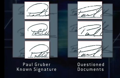 Sự khác biệt trong mẫu chữ ký.