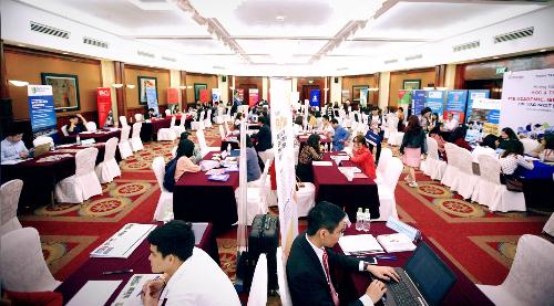 Triển lãm du học toàn cầu do Công ty Đức Anh tổ chức vào tháng 3.