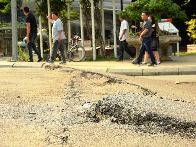 Quảng trường 60 tỷ ở Quảng Ninh nham nhở vết nứt
