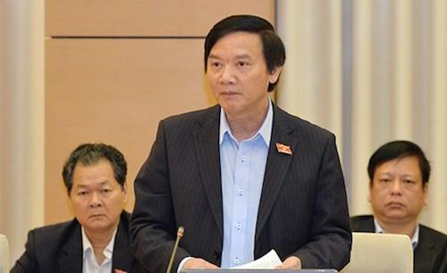 Chủ nhiệm Uỷ ban Pháp luật Nguyễn Khắc Định không ủng hộ thu thuế tài sản bất minh 45%. Ảnh: QH