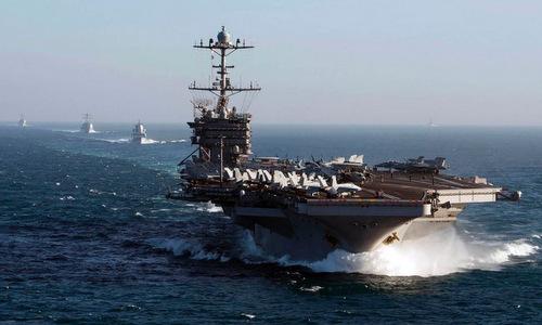 Tàu sân bay USS Harry S. Truman huấn luyện ngoài khơi Mỹ hồi tháng 2. Ảnh: US Navy.