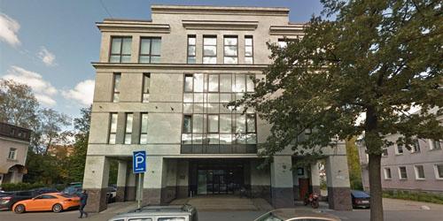 Cơ quan Nghiên cứu Internet của Nga tại trụ sở 55 đườngSavushkina, thành phố Saint Petersburg, Nga. Ảnh: NBC.