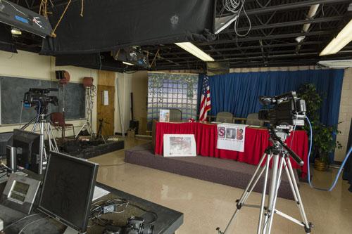 Phòng phát thanh, truyền hình tại trường Saint Johns.