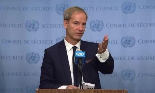 Đại sứ Thụy Điển tại Liên Hợp QuốcOlof Skoog. Ảnh: AP.
