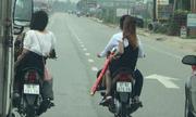 Nhóm thanh niên cản đường ôtô để đi rước dâu