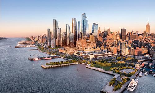 Dự án khu dân cư Hudson Yarks đang được xây dựng ở New York. Ảnh: Business Insider.