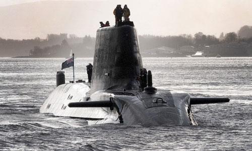 Tàu ngầm HMS Astute mang 38 tên lửa và ngư lôi của Anh. Ảnh: CNN.