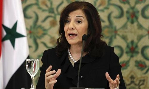 Bà Bouthaina Shabaan, cố vấn chính trị và truyền thông của Tổng thống Syria. Ảnh: Malaysian Digest.