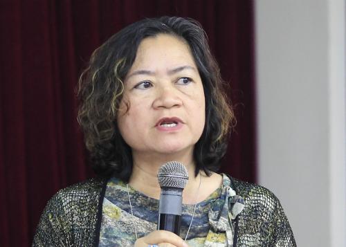 Bà Lê Mai Hương chia sẻ kinh nghiệm từ thất bại khi đăng ký sở hữu trí tuệ. Ảnh: Dương Tâm