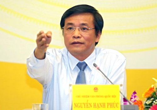 Tổng thư ký Quốc hội Nguyễn Hạnh Phúc. Ảnh: PV