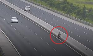 Nữ tài xế chạy 70 km/h ngược chiều ở cao tốc Hà Nội - Hải Phòng