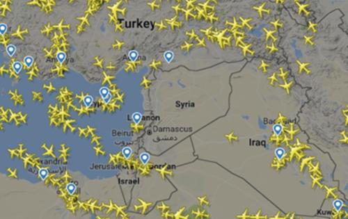 Sợ tên lửa nhắm vào Syria, nhiều hãng hàng không đổi đường bay