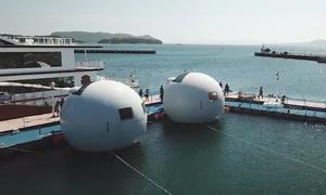 Khách sạn nổi chống sóng thần ở Nhật Bản