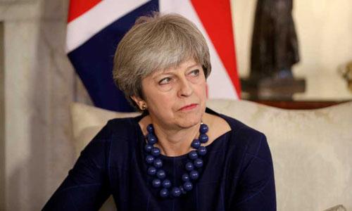 Thủ tướng Anh Theresa May nhóm họp nội các hôm 12/4 để bàn về khả năng tấn công Syria. Ảnh: AFP.