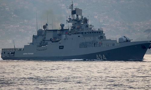 Một tàu chiến Nga tại Địa Trung Hải hồi tháng 4/2017. Ảnh: Sputnik.