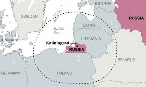 Chiếc trực thăng gặp nạn trên biển Baltic khi xuất phát từ Kaliningrad. Đồ họa: Guardian.