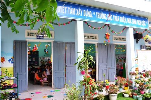 Lớp học ở Trường Mầm non Sao Mai. Ảnh: Phạm Linh.
