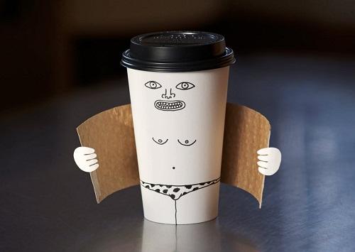 Cốc cà phê biến thái.