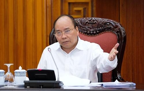 Thủ tướng Nguyễn Xuân Phúc chỉ đạo tại cuộc họp Thường trực Chính phủ. Ảnh: AVG