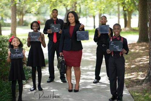 Ieshia Champs sắp hoàn thành mơ ước trở thành luật sư từ khi còn nhỏ. Ảnh:Richard Holman Photography