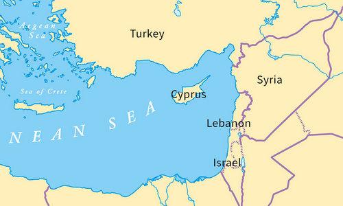 Địa Trung Hải trong tương quan với Syria. Đồ họa: Frost Foundation.