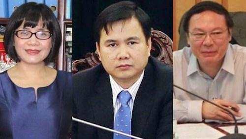Thứ trưởng Bộ Tư pháp Đặng Hoàng Oanh, Thứ trưởng Bộ Khoa học và Công nghệ Bùi Thế Duy, Thứ trưởng Bộ Tài nguyên và Môi trường Lê Công Thành.