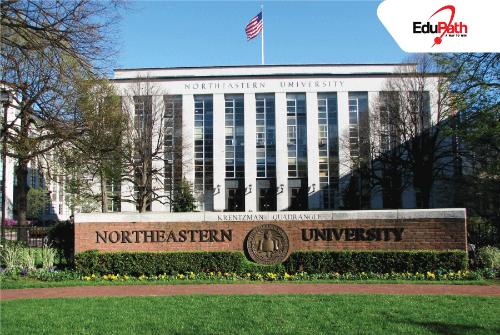 NEU tọa lạc ngay vị trí trung tâm thành phố Boston, Anh.
