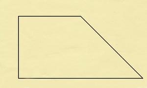 Bài toán chia hình thang thành 4 phần bằng nhau