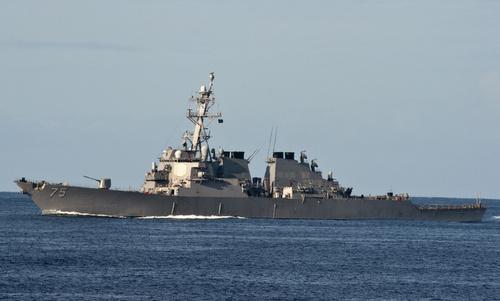 USS Donald Cook hoạt động trên Địa Trung Hải hồi năm ngoái. Ảnh: US Navy.