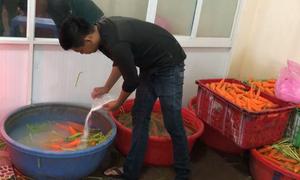 Hơn 6 tấn cà rốt ở TP HCM bị tẩy trắng bằng hóa chất