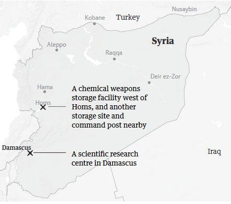 Thủ đô Syria rực sáng khi phòng không đánh chặn tên lửa Mỹ