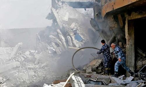 Trung tâm nghiên cứu của Syria bị phá hủy hoàn toàn sau đòn tấn công của liên quân Mỹ - Anh - Pháp. Ảnh: AFP.